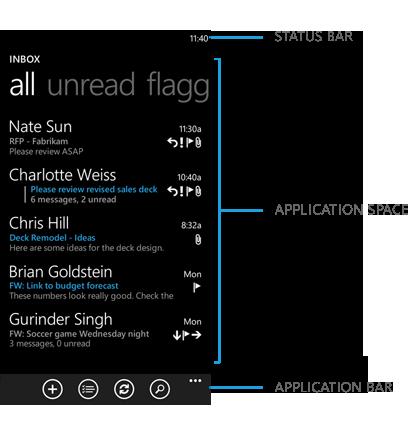 Windows Phone 应用标准界面